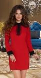 Платье № 3650N красное
