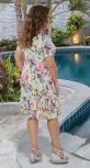 Лёгкое платье с цветочным принтом № 3947