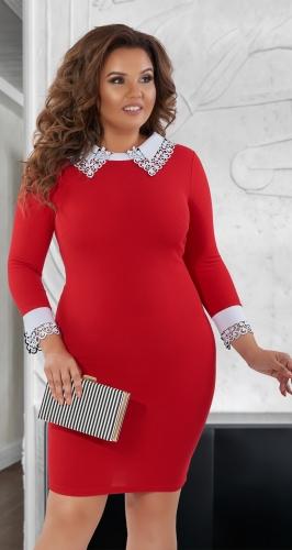 Красивое короткое платье № 114921 ,красное