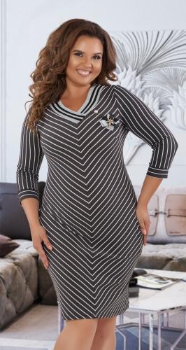 Любимое платье в полоску № 3807