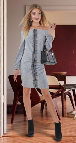 Интересное удобное платье № 4033