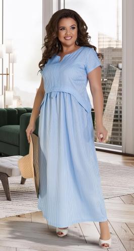 Льняное красивое длинное платье № 31731