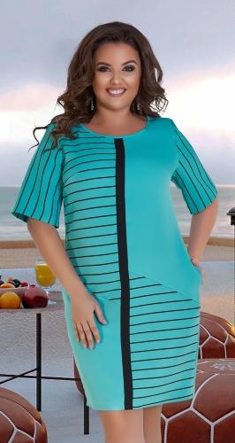 Стильное короткое платье № 39571,мятное
