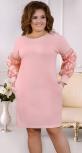"""Изысканное  вечернее платье цвета """"пудра""""большие размеры"""