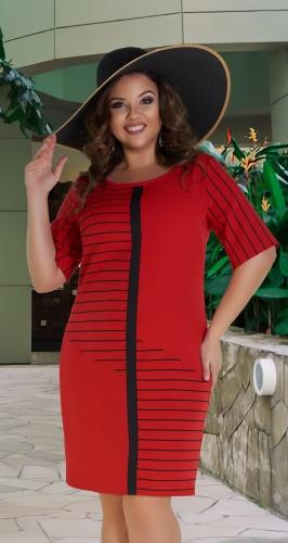 Стильное короткое платье № 39571,красное
