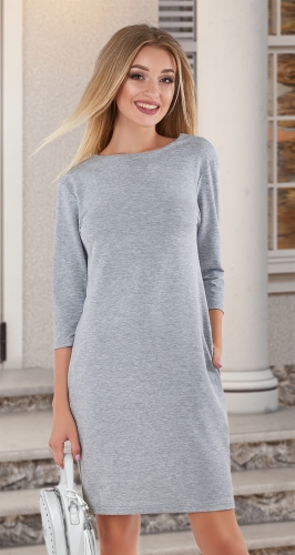Красивое модное платье № 4038 ,меланжевое