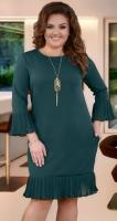 Красивое изумрудное платье с кулоном № 38231
