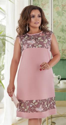 Красивое платье № 40641,пудровое