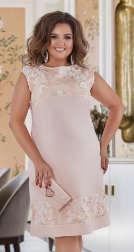 Красивое платье № 40641,персиковое