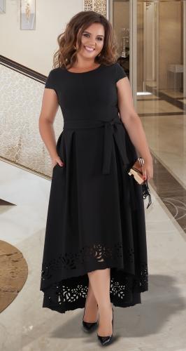 Нарядное платье в пол № 40571,чёрное