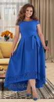 Нарядное платье в пол № 40571,ярко синее