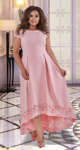 Нарядное платье в пол № 40571,пудровое