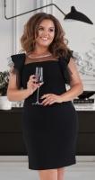 Короткое нарядное платье № 39851 , чёрное