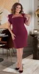 Короткое нарядное платье № 39851 , бордовое