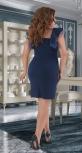 Короткое нарядное платье № 39851 , синее