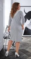 Красивое модное платье № 40381 ,меланжевое