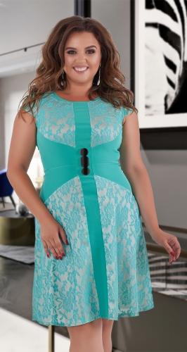 Гипюровое короткое платье № 1257