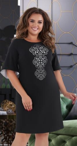 Платье А-силуэта  чёрное № 30651