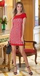 Ажурное красивое платье № 31105 , красное