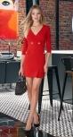 Короткое красное платье № 3648