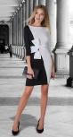 Трикотажное платье № 3191 , чёрно-белое