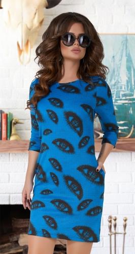 Свободное платье с карманчиками № 1237