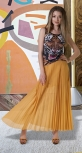Длинная юбка гофре № 236, горчичная