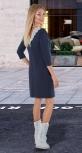 Красивое модное платье № 4038 , синее