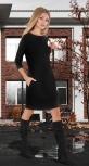 Красивое модное платье № 4038 , чёрное
