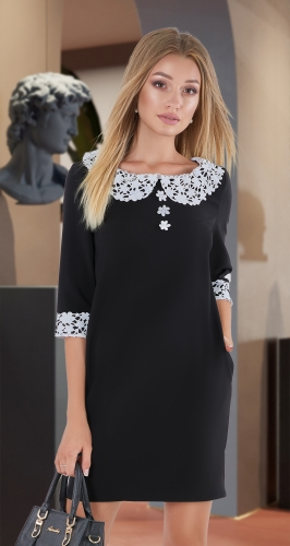 Свободное платье № 3418,чёрное