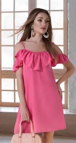 Свободное платье № 3778,розовое
