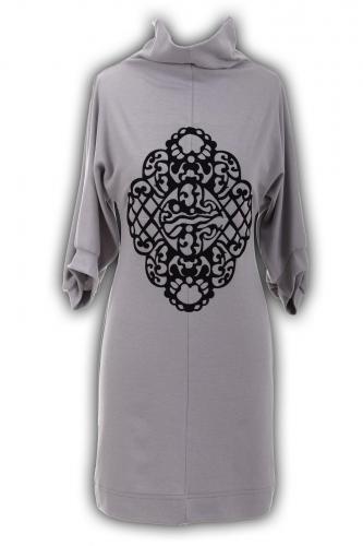 Платье № 2821N серебро (розница 470 грн.)
