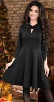Стильное и необычное трикотажное платье черное