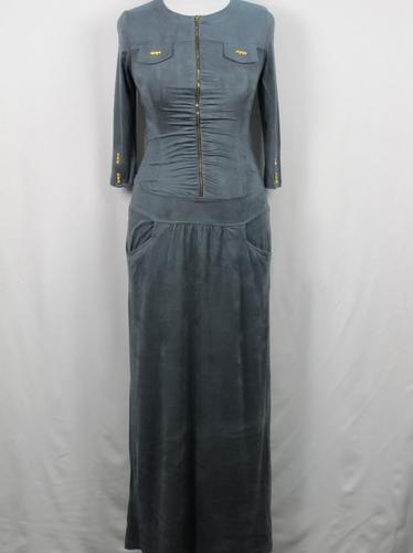 Платье длинное из эко-замши