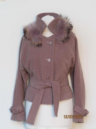 куртка летучая мышь съемный мех №612N (розница 740 грн.)
