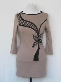 Платье-туника сетка грудь 638