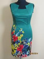 Платье № 86132 зеленое