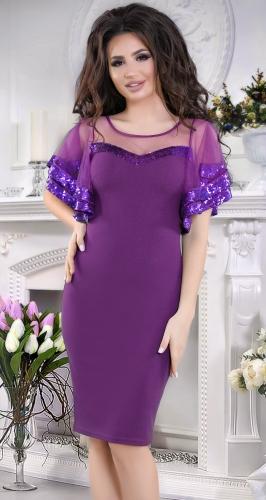 Вечернее платье с пайеткой,лавандовое