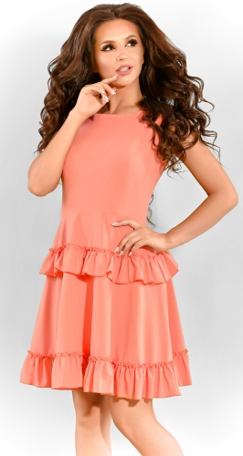 Платье № 3380SN коралл (розница 380 грн.)