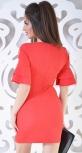 Платье № 3610S красное