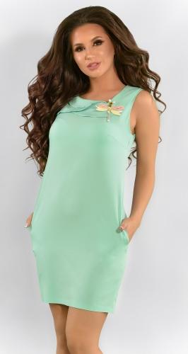 Летнее красивое платье цвета мята