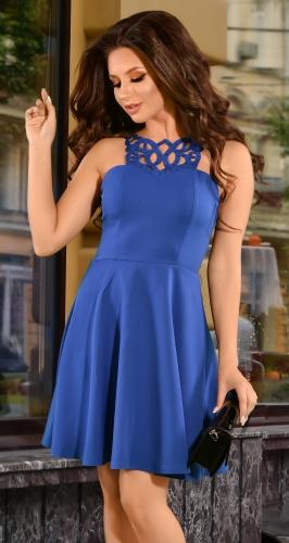 Платье № 3411SN электрик