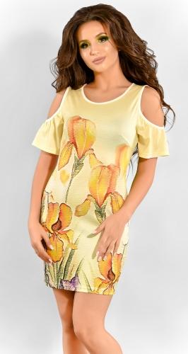 Яркое желтое летнее платье (розница 482 грн.)