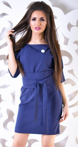 Платье № 1215N синее