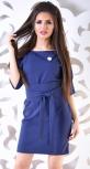 Платье № 1215 синее