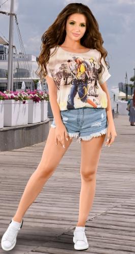 Модная  женская футболка № 1299