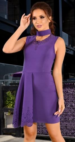 Оригинальное лавандовое  платье
