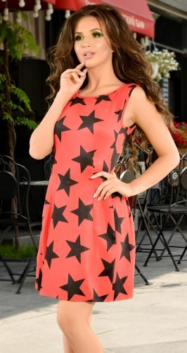 Яркое красное летнее платье (розница 495 грн.)