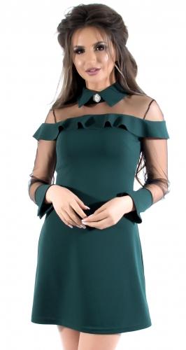 Платье № 3526S, изумрудное