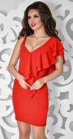Вечернее платье № 3643, красное
